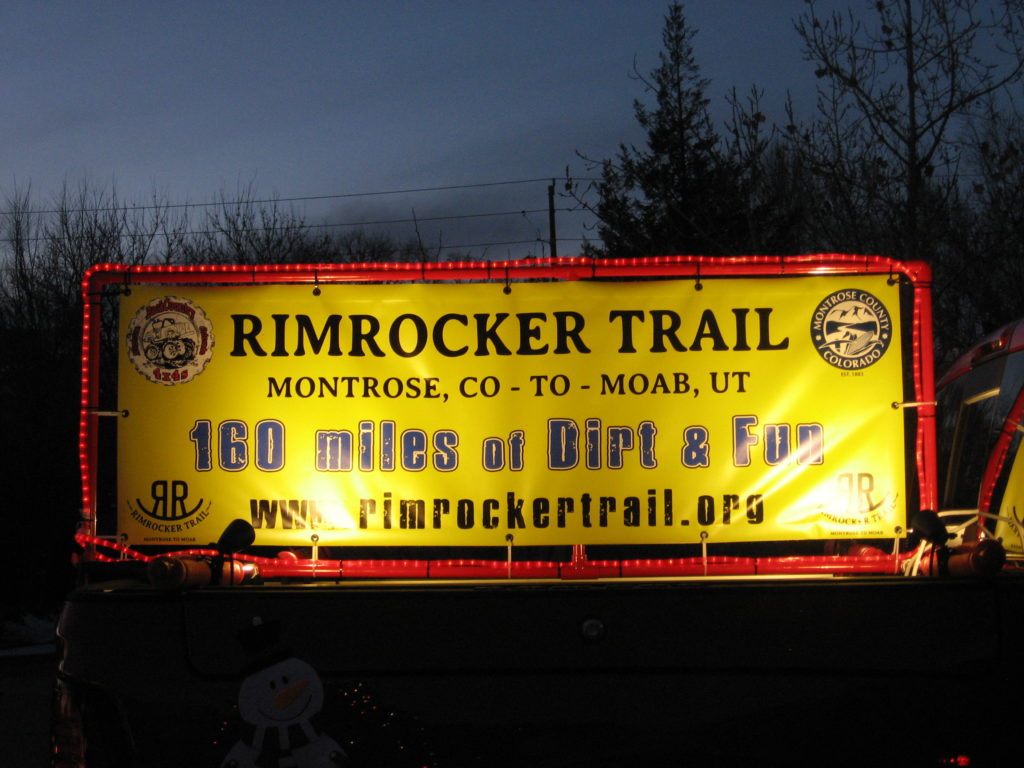 Thanks To The Backcountry 4 S Group For Representing Rimrocker Trail In 2018 Montrose Christmas Parade